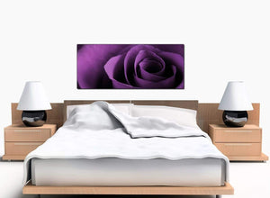 Extra Large Floral Bedroom Purple Canvas Prints