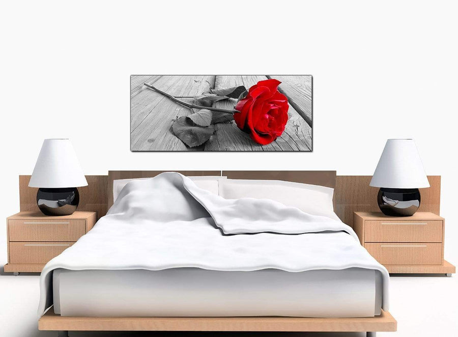 Rose Bedroom Red Canvas Prints
