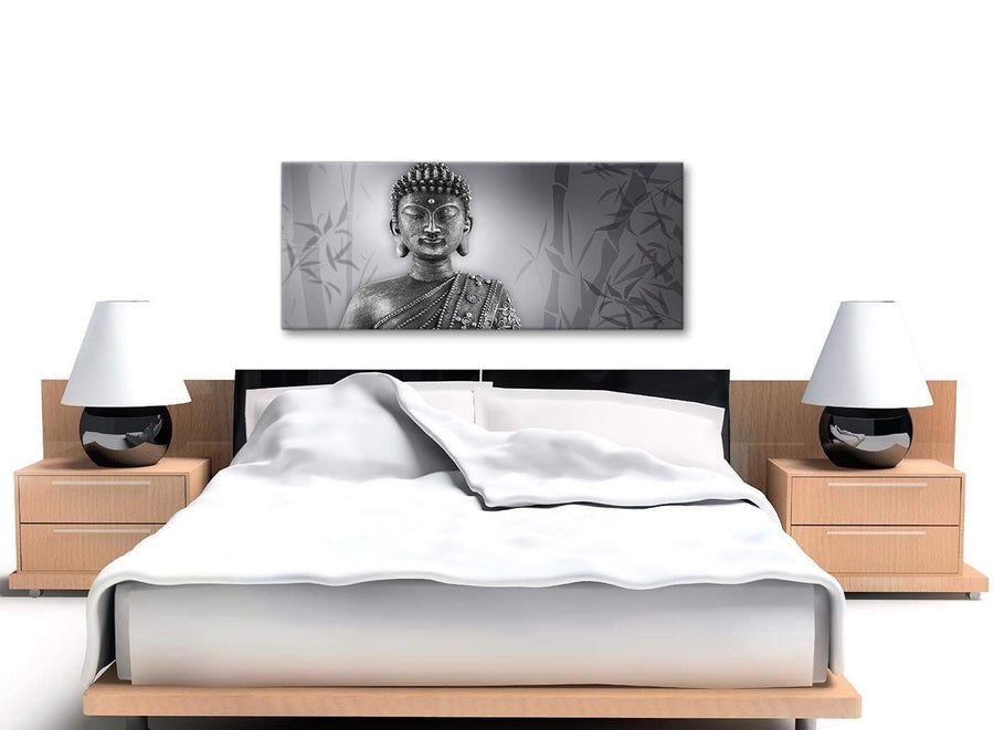 Black White Buddha Bedroom Canvas Wall Art Accessories - 1373 - 120cm Print