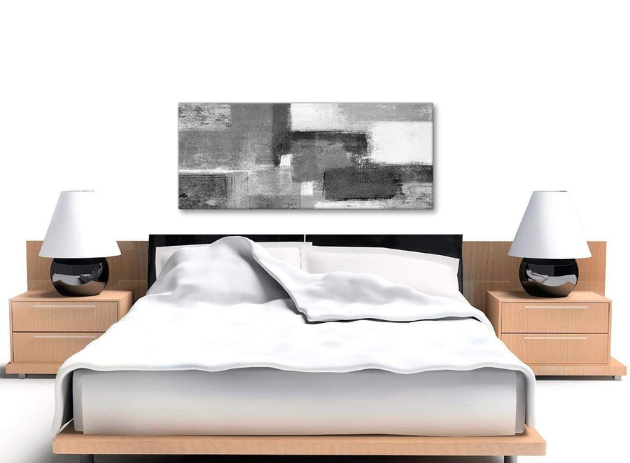 Black White Grey Bedroom Canvas Wall Art Accessories - Abstract 1368 - 120cm Print