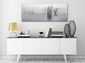 Black White Grey Tree Landscape Painting Living Room Canvas Wall Art Accessories - 1416 - 120cm Print