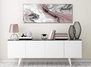 Blush Pink and Grey Swirl Living Room Canvas Wall Art Accessories - Abstract 1463 - 120cm Print
