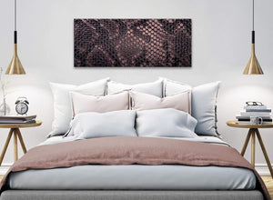 Blush Pink Snakeskin Animal Print Living Room Canvas Wall Art Accessories - Abstract 1473 - 120cm Print
