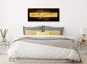 Brown and Gold Abstract Canvas Living Room Canvas Wall Art Accessories - Abstract 1090 - 120cm Print