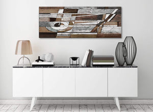 Brown Beige White Painting Bedroom Canvas Pictures Accessories - Abstract 1407 - 120cm Print