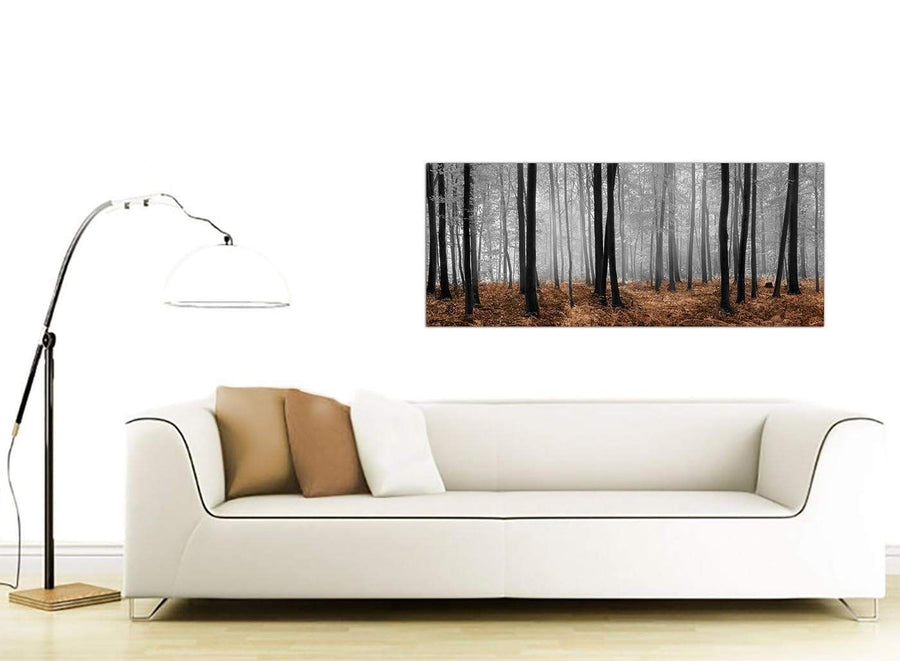 Brown Forest Landscape Canvas