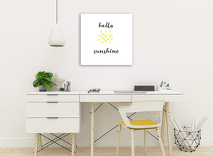 Canvas Prints Hello Sunshine - Word Art - 1s509s - 49cm Square Wall Art