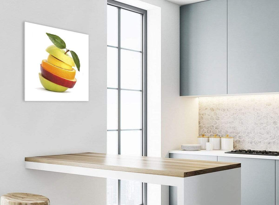 Canvas Prints Sliced Fruit - Apple Shape Food Stack - Kitchen - 1s483s - 49cm Square Wall Art