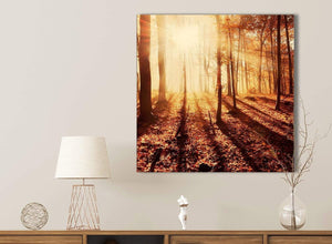 Canvas Prints Autumn Leaves Forest Scenic Landscapes - Trees - 1s386s Orange - 49cm Square Wall Art