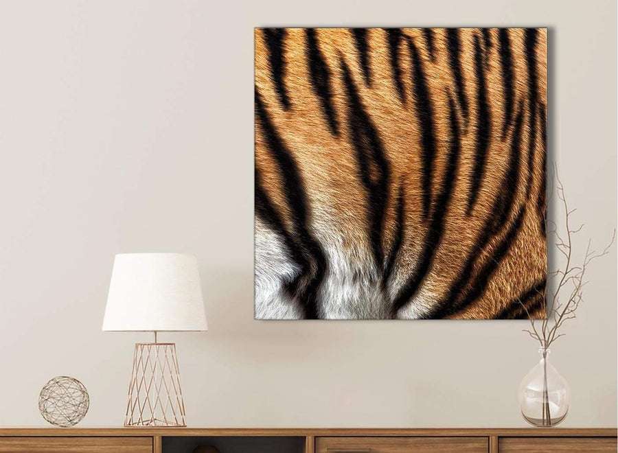 Canvas Prints Tiger Animal Print - 1s472s - 49cm Square Wall Art