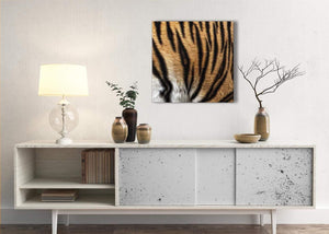 Canvas Art Print Tiger Animal Print - 1s472m - 64cm Square Picture