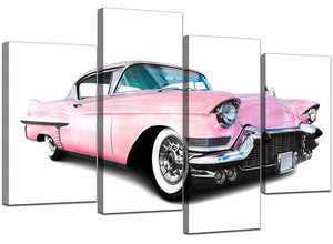 Set Of Four Extra-Large Pink Canvas Prints