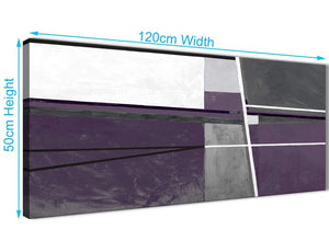 Cheap Aubergine Grey Painting Living Room Canvas Wall Art Accessories - Abstract 1392 - 120cm Print