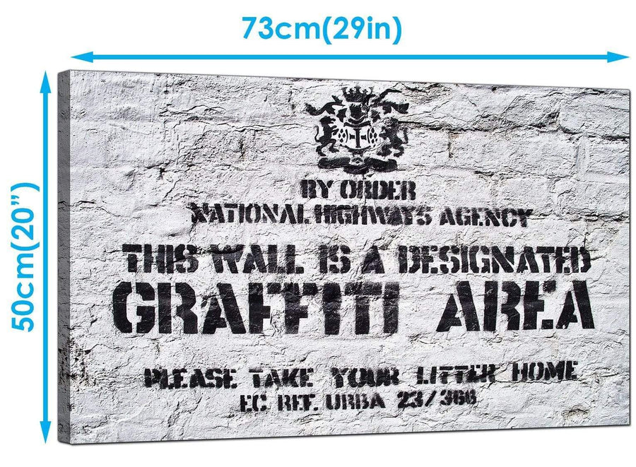 Banksy Canvas Art Prints - Designated Graffiti Area - Graffiti Art