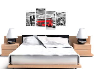 Cheap 4 Panel City Canvas Art 4210