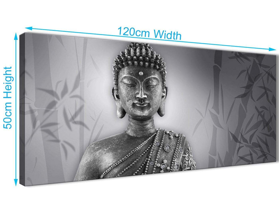 Cheap Black White Buddha Bedroom Canvas Wall Art Accessories - 1373 - 120cm Print