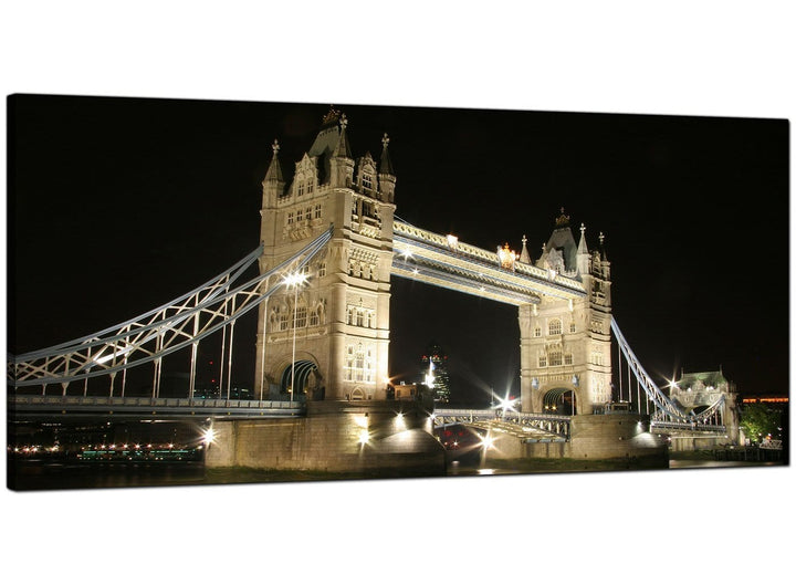 Black-White Modern Panoramic Canvas of London