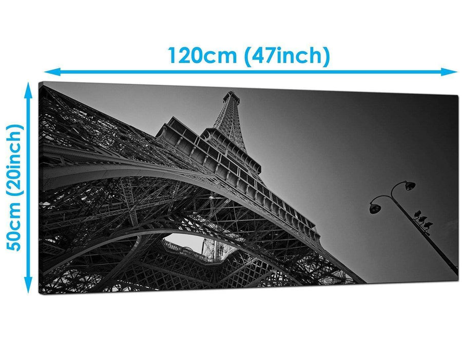 Living-Room Black White Extra Large Canvas of Eiffel Tower
