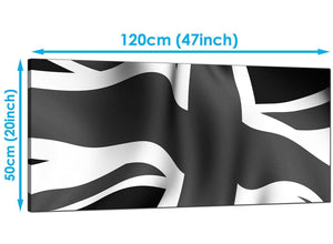 Cheap Black White Panoramic Canvas of Union Jack Flag