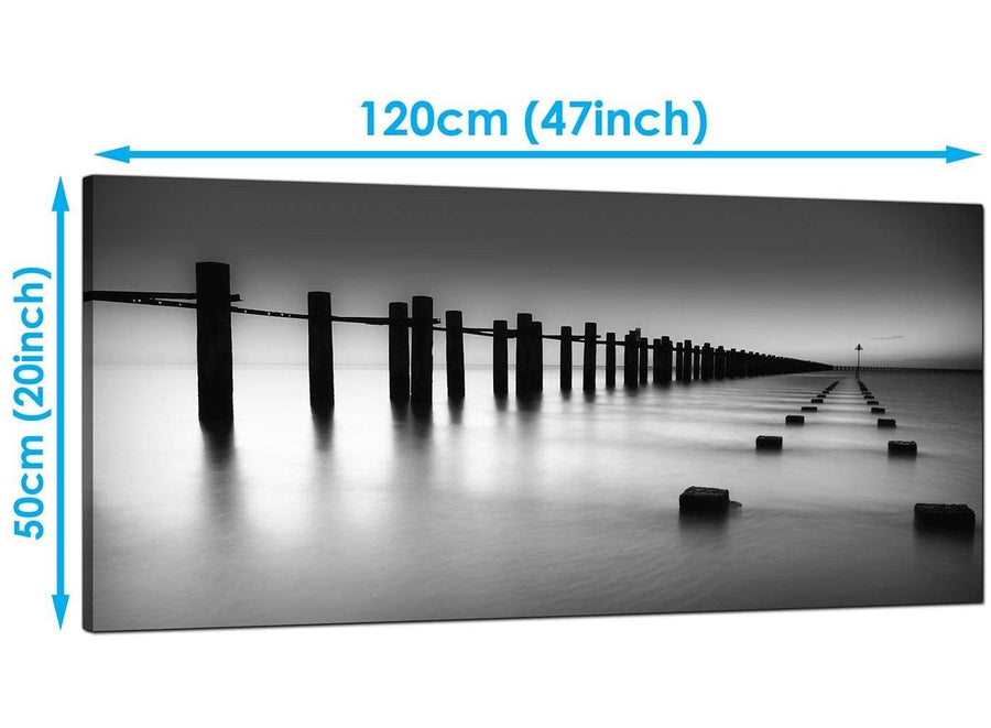 Cheap Black White Large Canvas of Landscape