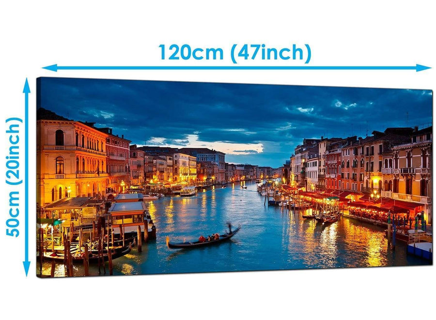 Bedroom Blue Extra Large Canvas of Venice Italy