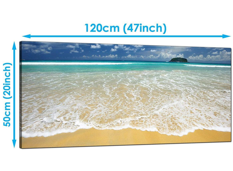 Living-Room Blue Panoramic Canvas of Beach
