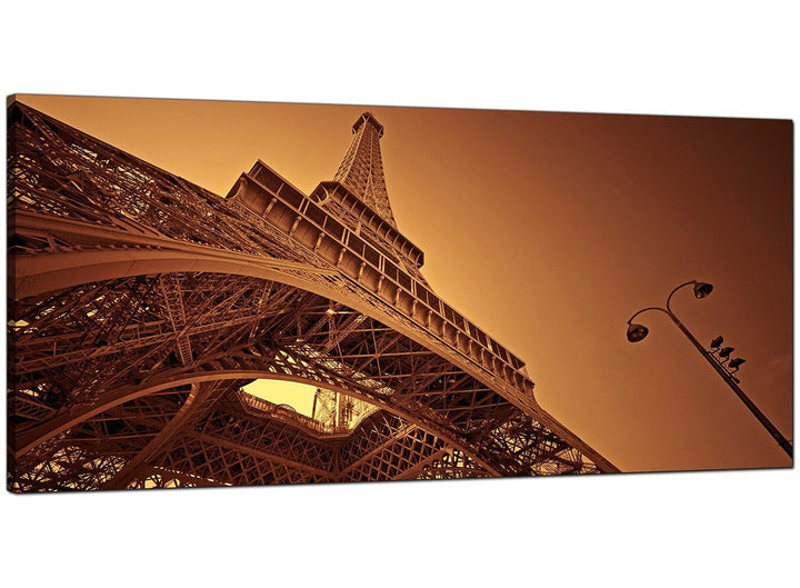 Brown Modern Large Canvas of Paris