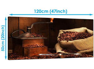 Kitchen Brown Wide Canvas of Coffee Beans