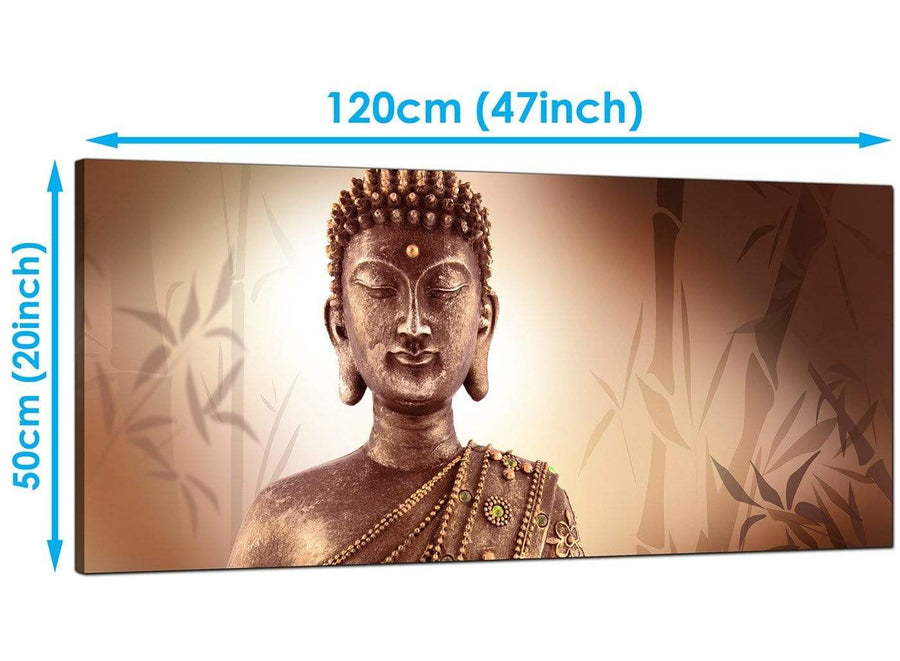Cheap Brown Large Canvas of Buddha