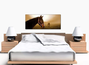 Horse Riding Bedroom Brown Canvas Prints