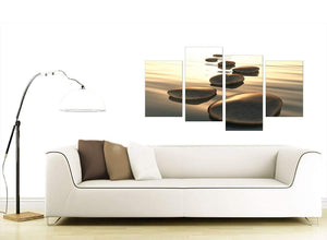 4 Piece Set of Living-Room Brown Canvas Prints