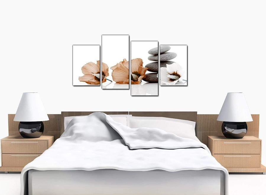 Set Of Four Bedroom Brown Canvas Art