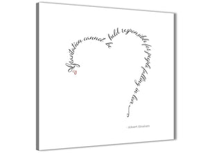 Cheap Canvas Prints Albert Einstein Love Quote - Word Art - 1s508s - 49cm Square Wall Art