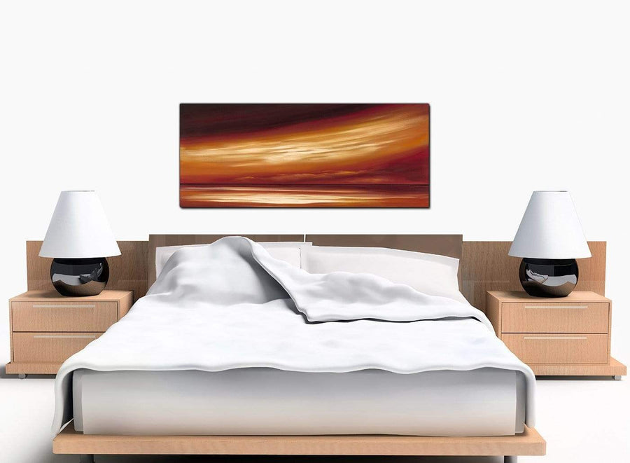Abstract Landscape Extra-Large Beige Canvas Wall Art