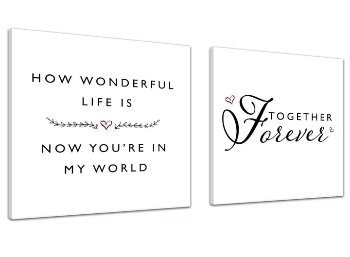 Cheap Canvas Prints How wonderful Life is - Word Art - 2s478s - 49cm Square Wall Art