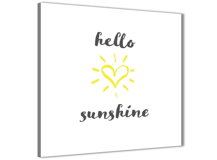 Cheap Canvas Prints Hello Sunshine - Word Art - 1s509s - 49cm Square Wall Art