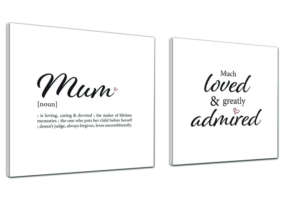 Canvas Prints Mum - Word Art - 2s480s Black and White - 49cm Square Wall Art