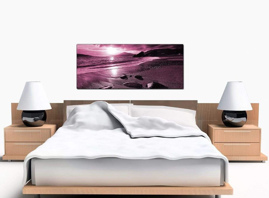Beach Large Plum Canvas Wall Art