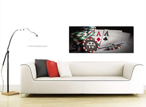 Modern Poker Playing Cards Gambling Aces Canvas