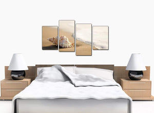 Set Of Four Extra-Large Beige Canvas Pictures