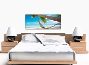 Beach Holiday Large Blue Canvas Art