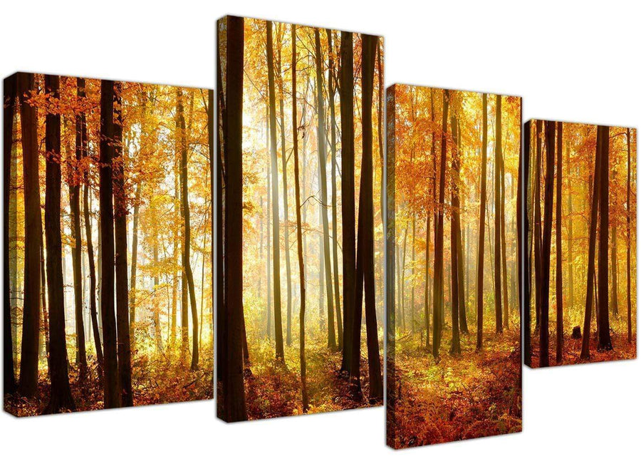 cheap canvas wall art hallway 4 panel 4243