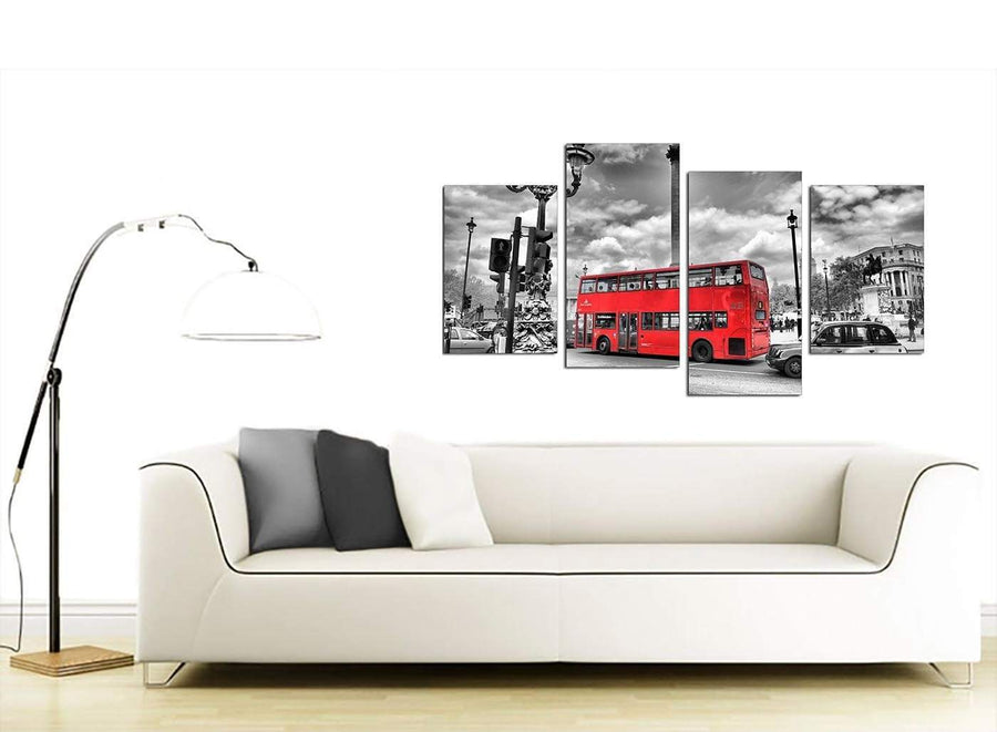 London Bus Canvas Art 130cm x 68cm 4210