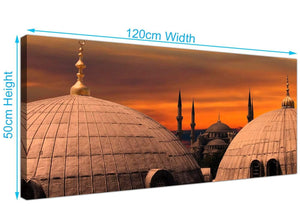 Cheap Blue Mosque Istanbul Sunset Canvas Wall Art 120cm x 50cm 1192