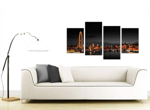 Cheap 4 Part City Canvas Prints 4186