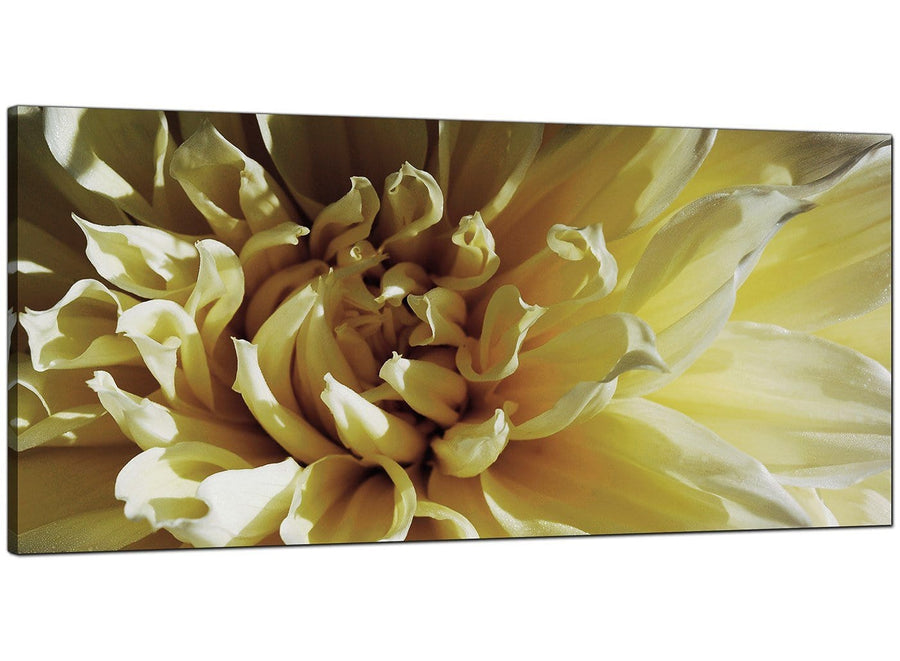 Cream Living Room Extra Large Canvas of Flowers