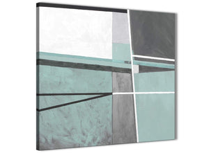 Cheap Duck Egg Blue Grey Painting Bathroom Canvas Wall Art Accessories - Abstract 1s396s - 49cm Square Print