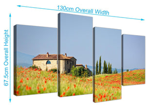 cheap floral tuscan hills canvas prints uk green 4233