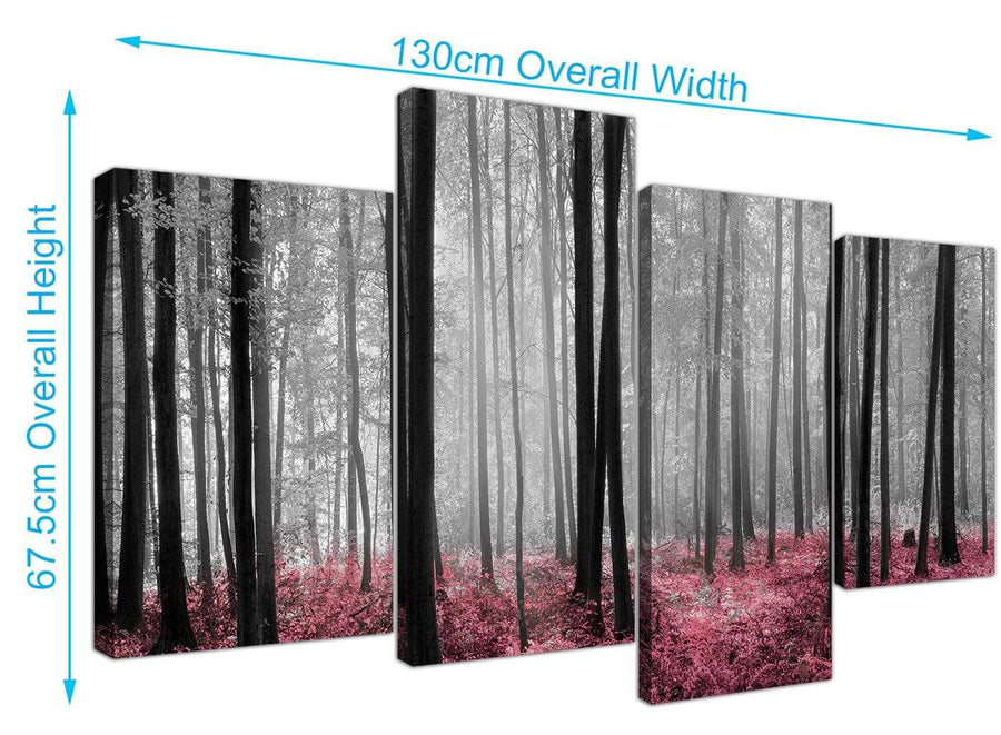 cheap forest woodland trees canvas pictures black and white 4241