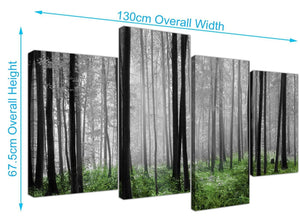 cheap forest woodland trees canvas prints uk black and white 4239